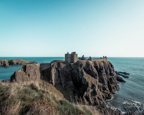 Free stock photo of castle, coast, dunottar castle