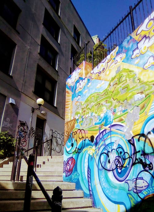 Free stock photo of downtown, graffiti, stairs