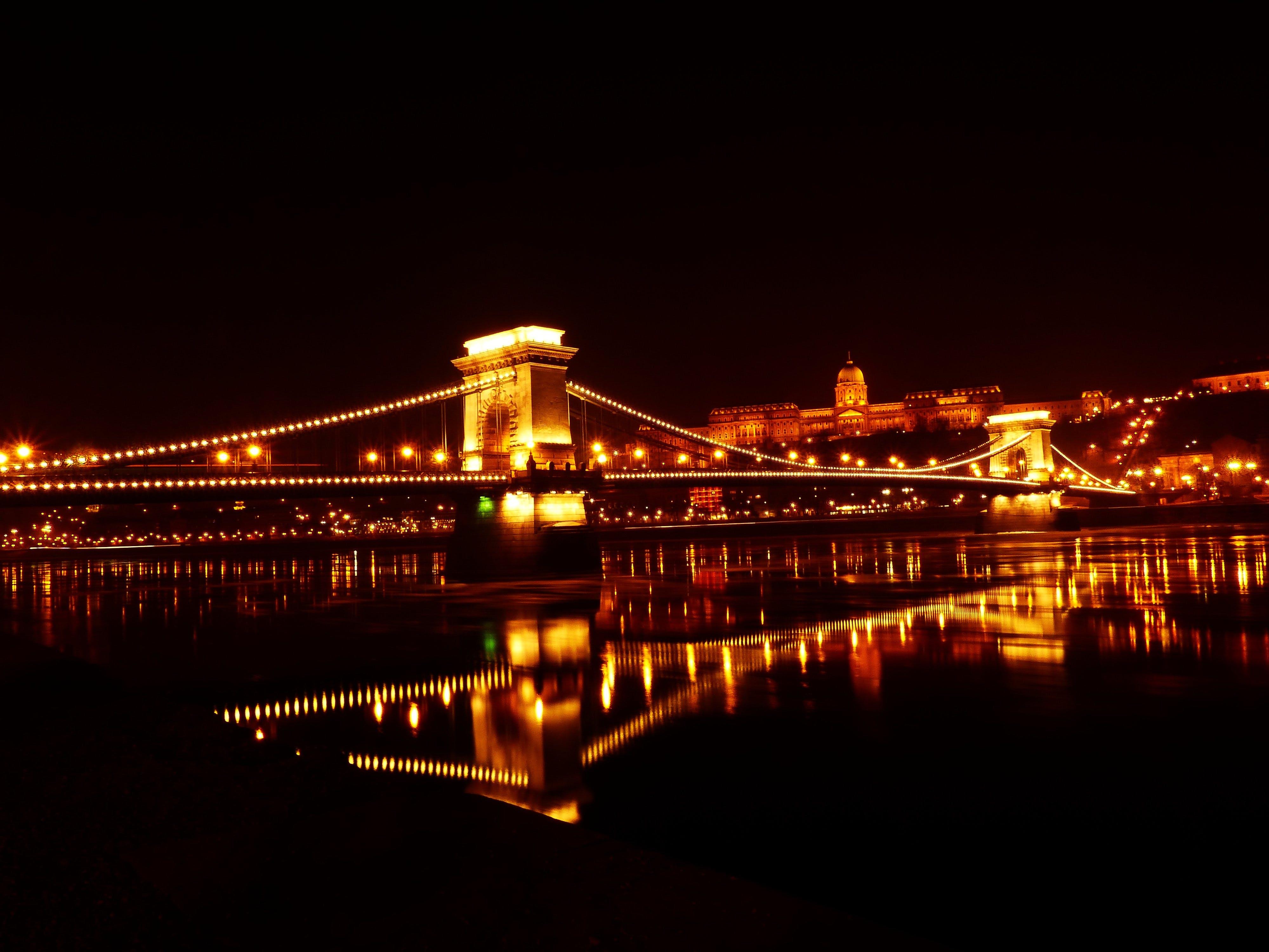 Gratis stockfoto met attractie, avond, belicht, binnenstad