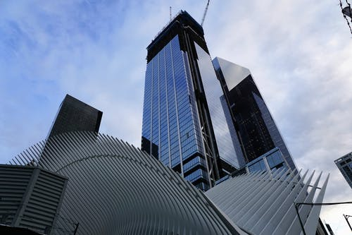 Low Angle View of Skyscrapers Against Sky