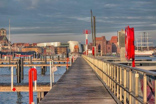 Free stock photo of Baltic Sea, church, panorama, port