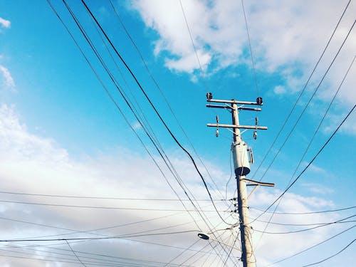 早朝, 美しい空, 街の空, 電気のの無料の写真素材