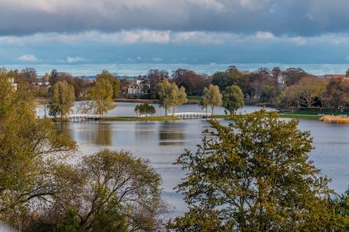 Free stock photo of autumn, bridge, colors of autumn, panorama