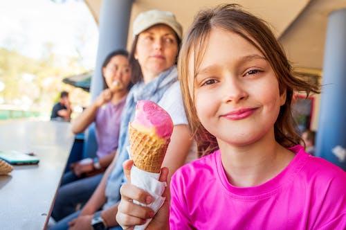 Free stock photo of child, children, cone, dessert