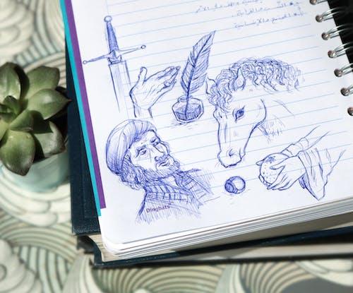 Základová fotografie zdarma na téma kniha, kresba, kůň, minulý