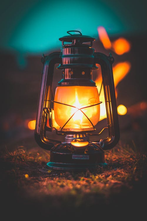 Photo of Lighted Lamp