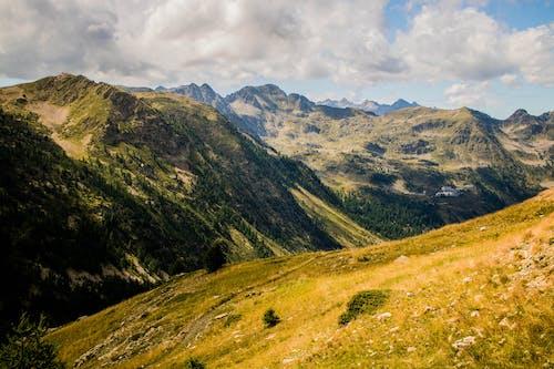 Photo of Mountain Range Under Cloudy Sky