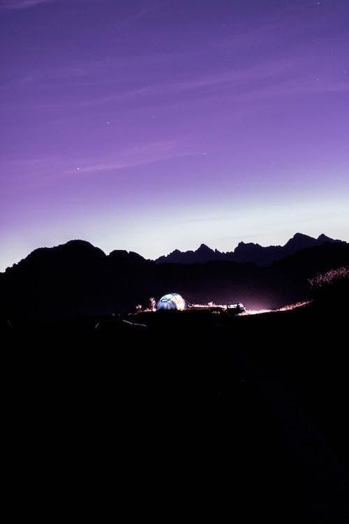 Бесплатное стоковое фото с вечер, гора, легкий, небо