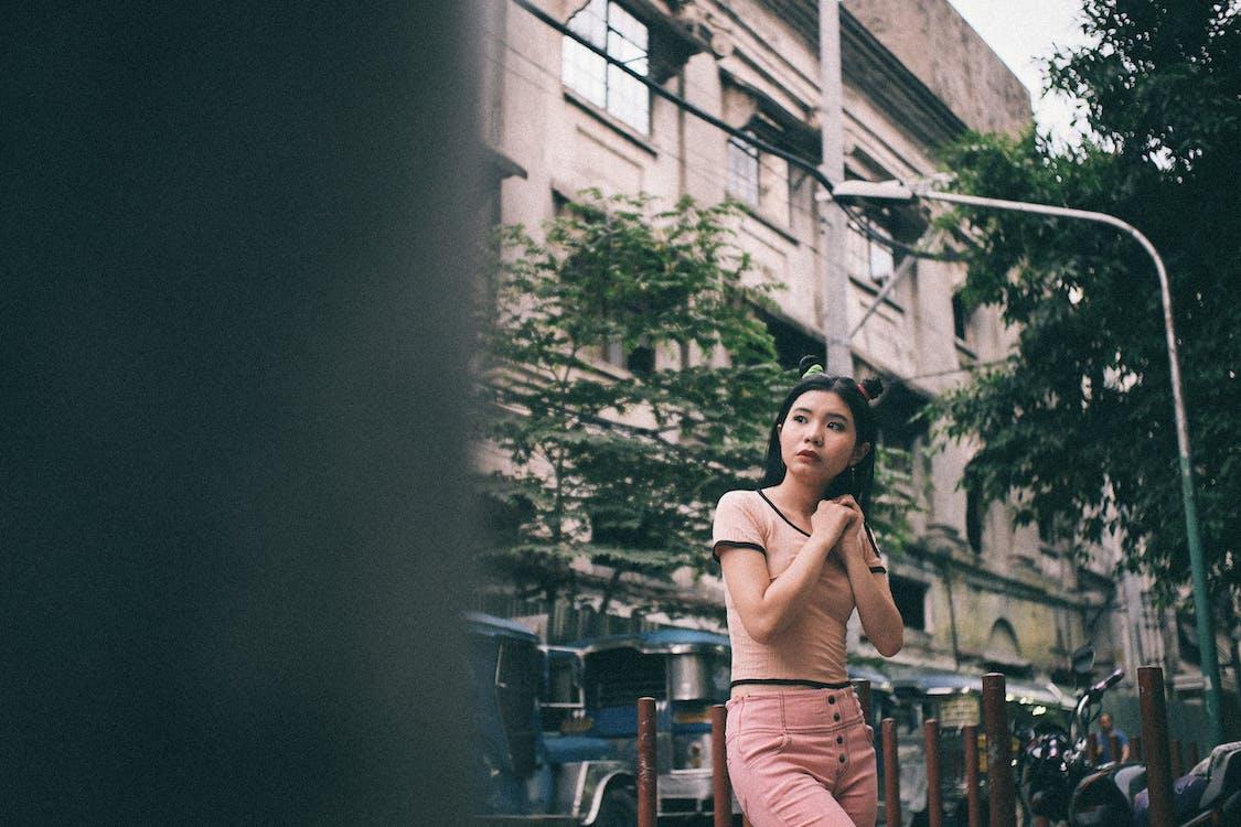 ασιατικό κορίτσι, αστικός, γυναίκα