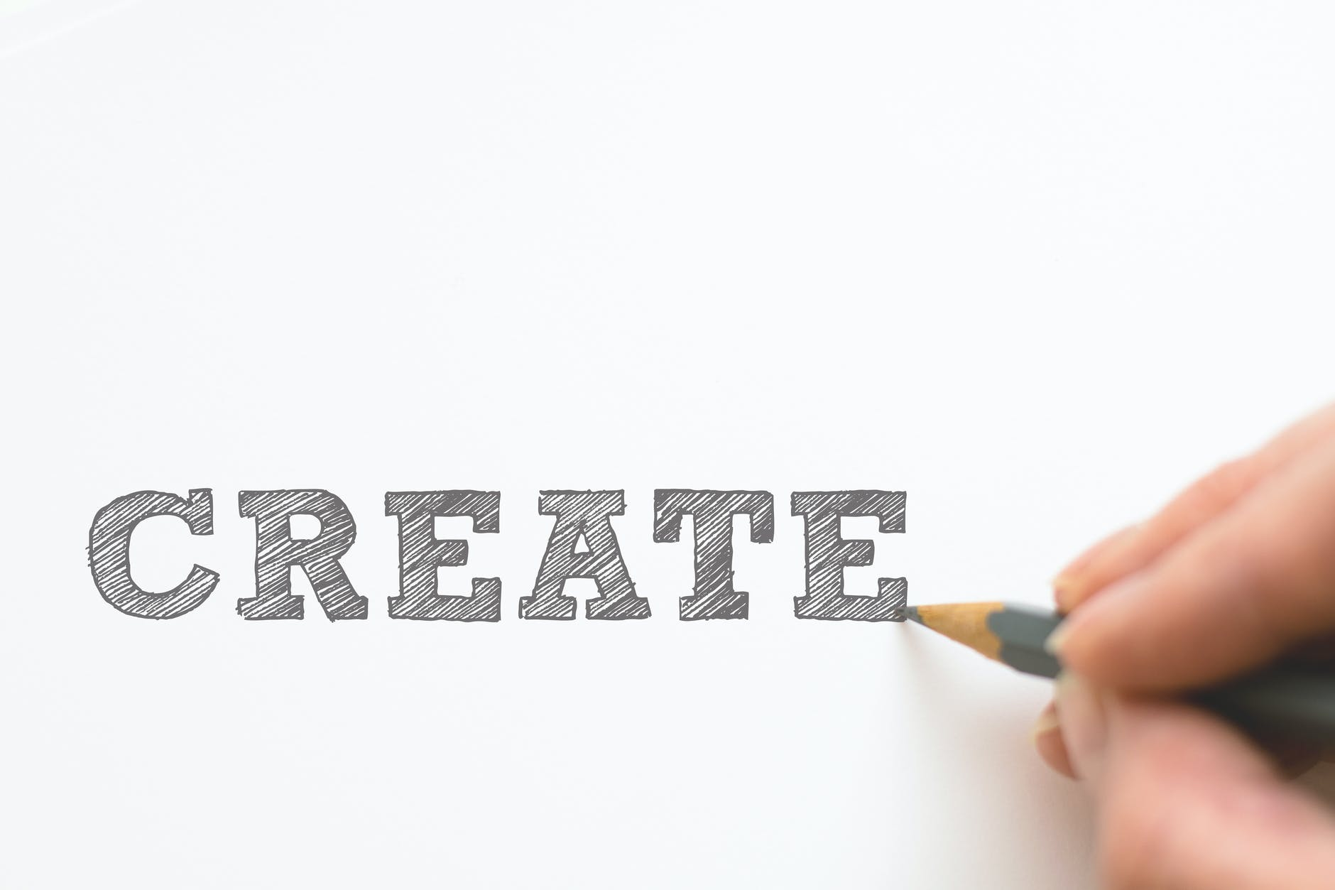 written the word create