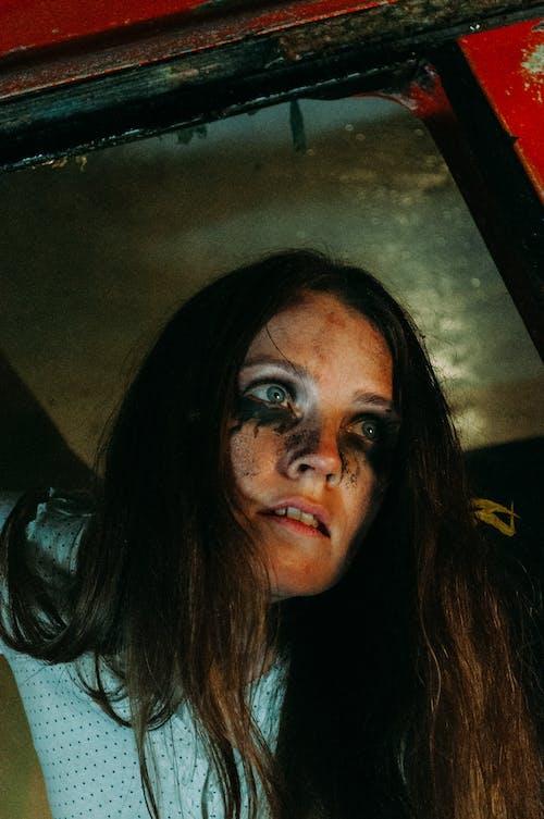 Free stock photo of girl, halloween, portrait, scary