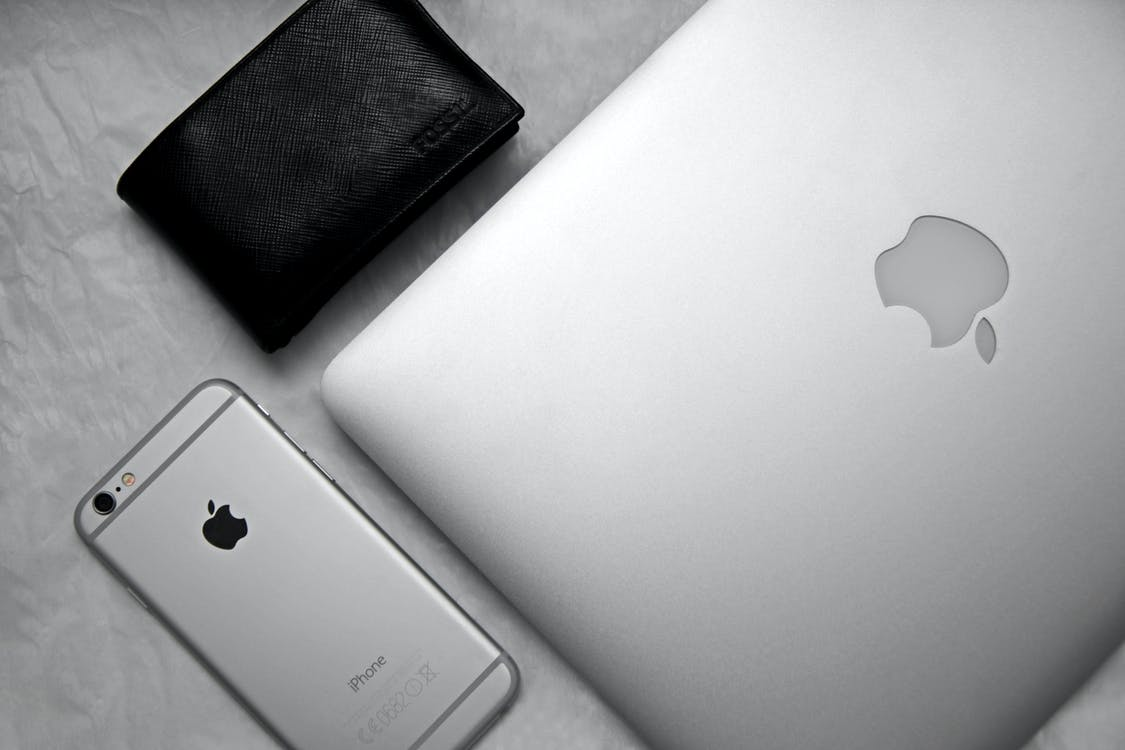 Close-up of Apple Products