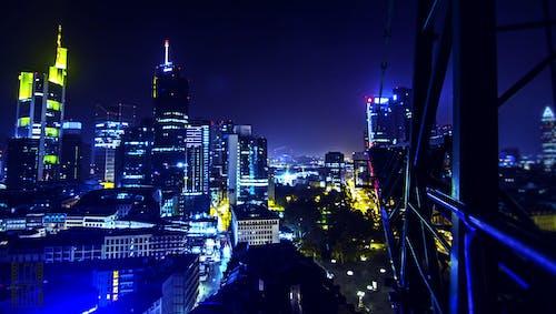 Immagine gratuita di gru, luci della notte, notte, skyline
