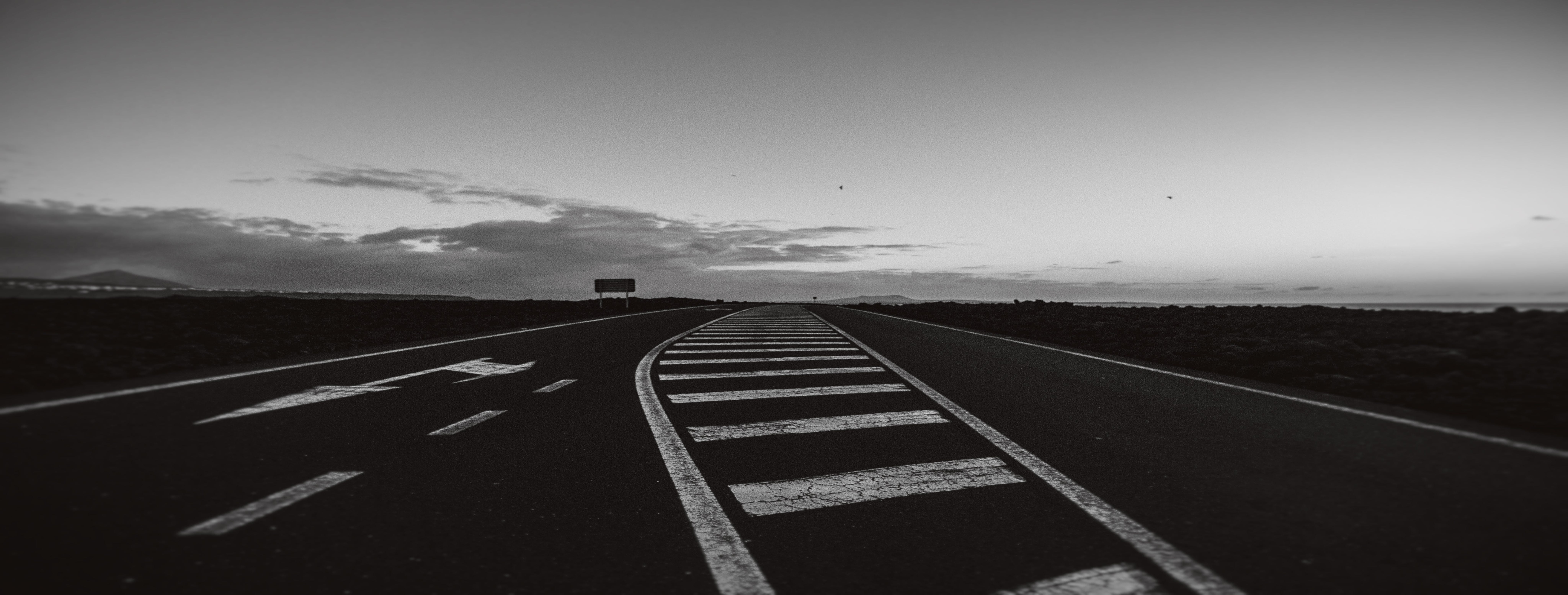 Free stock photo of background, black-and-white, road, road marking