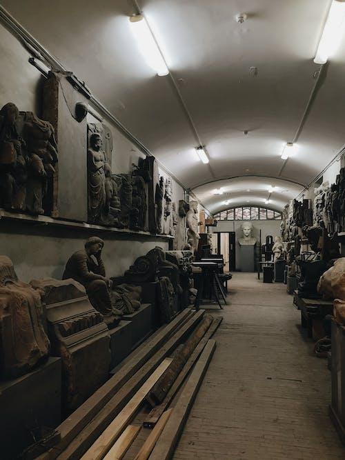 Assorted Sculpture Inside Room