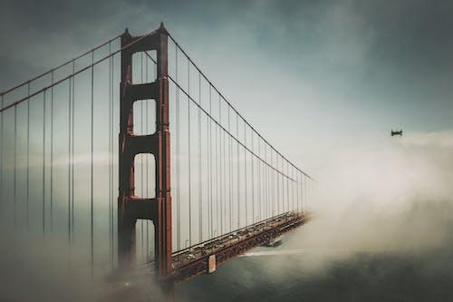 Бесплатное стоковое фото с архитектура, инфраструктура, калифорния, мост