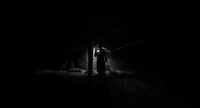 Kostenloses Stock Foto zu licht, schwarz und weiß, landschaft, mann