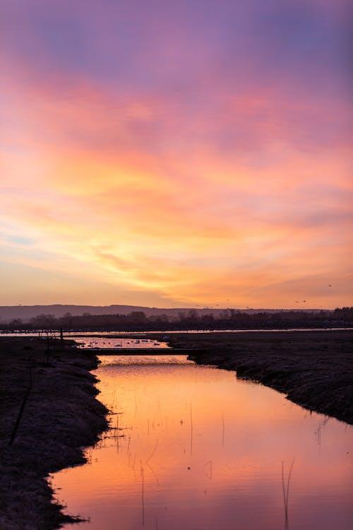 Gratis stockfoto met kanaal, meer, zonsopkomst
