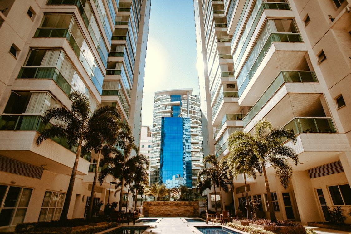 a l'aire lliure, arquitectura, bloc de pisos