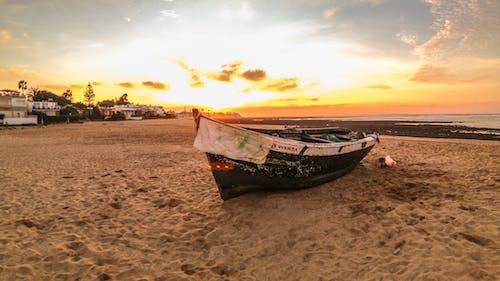 Imagine de stoc gratuită din barcă, barcă de pescuit, faleză, plajă