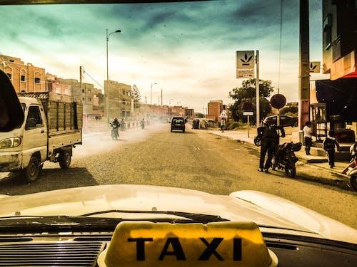 Imagine de stoc gratuită din taxi