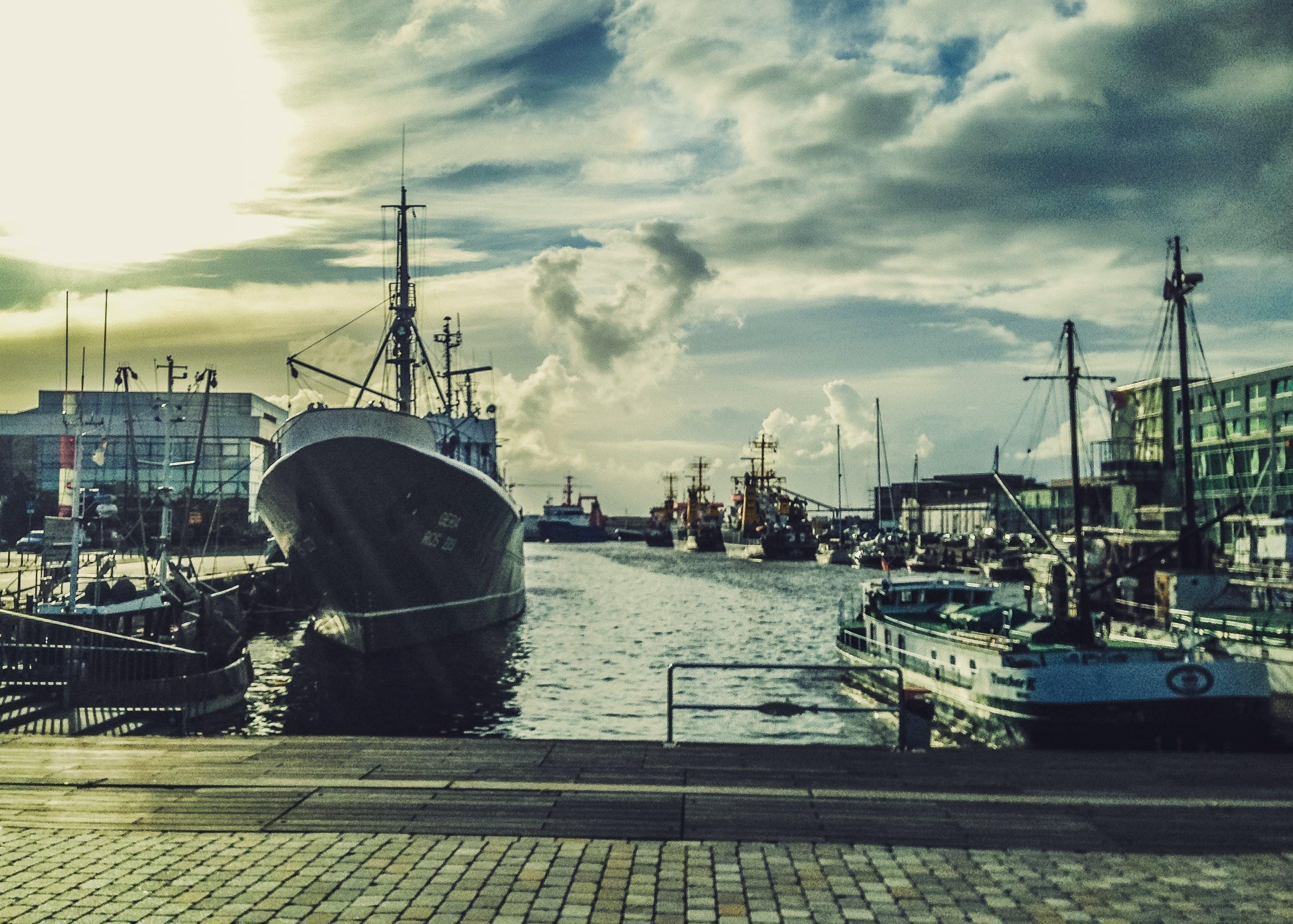 Free stock photo of boats, port, ships