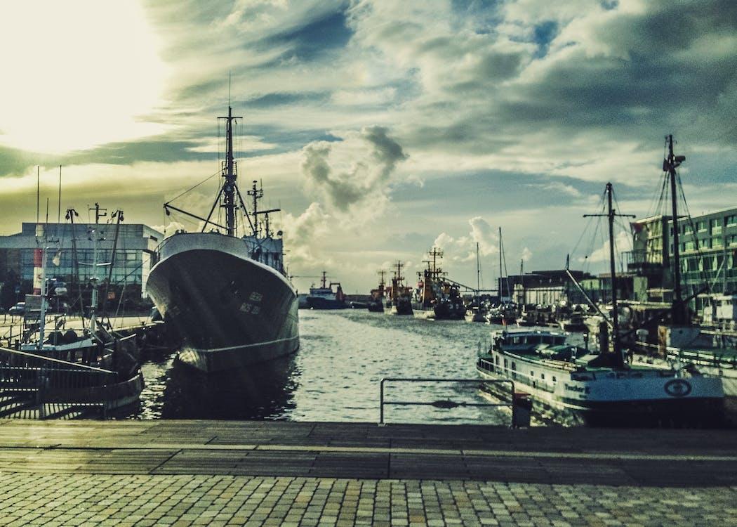 bărci, port, port maritim