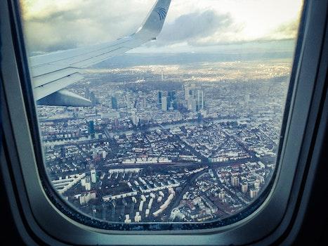 Free stock photo of traveling, airplane, landing