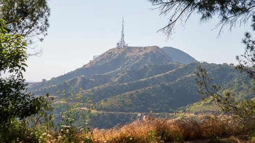Free stock photo of antenna, city, hills, hollywood