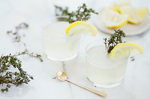 Close-up of Tea Served on White Background