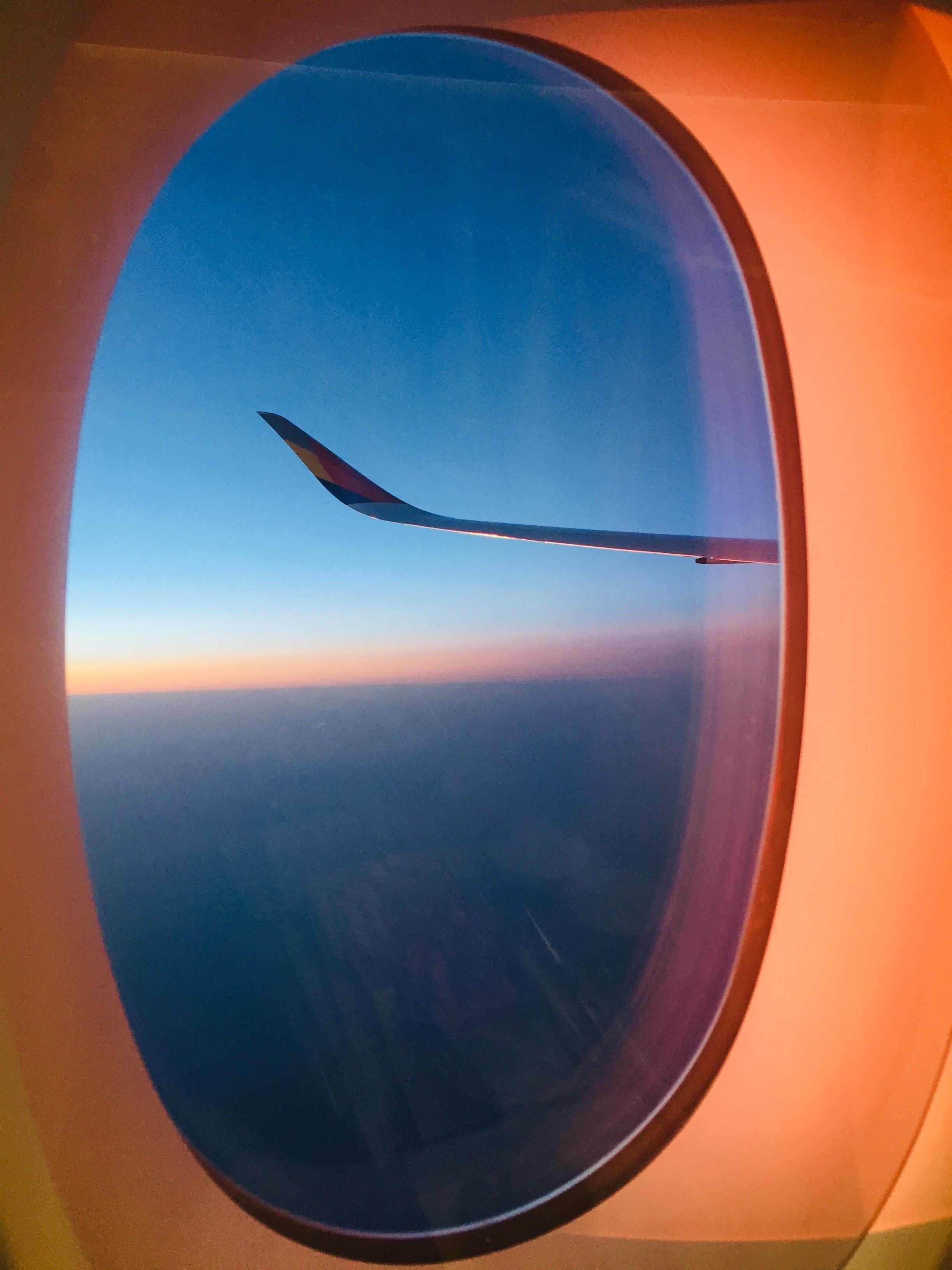 Airplane Window View Of Sky Free Stock Photo
