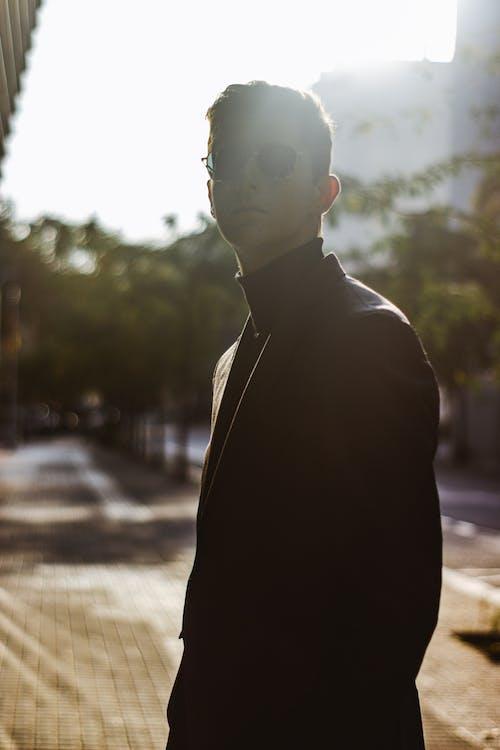 Free stock photo of 20-25 years old man, beautiful man, colorful sunglasses, photo portrait