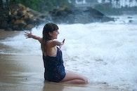 sea, nature, person