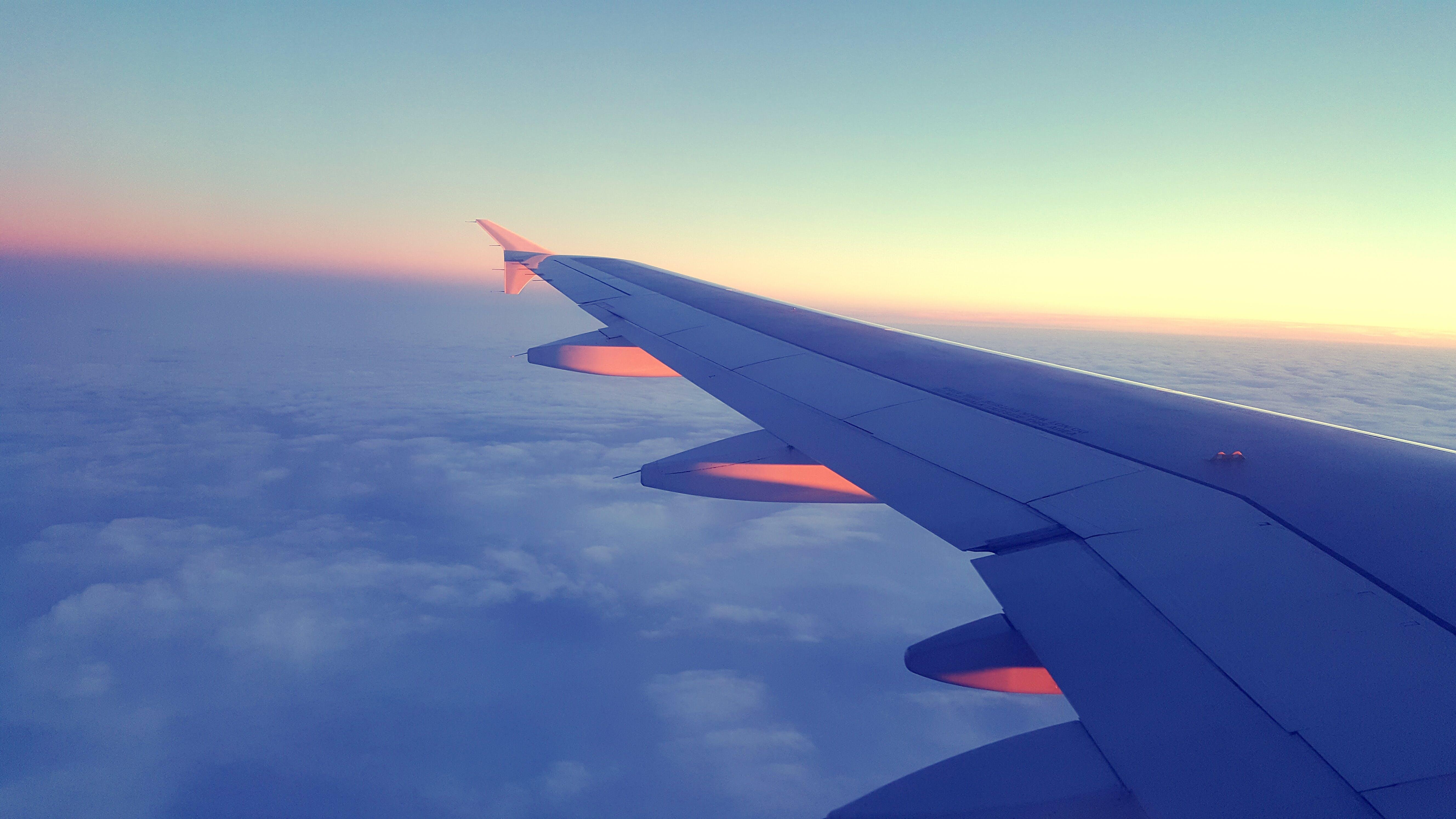Kostenloses Stock Foto zu düsenflugzeug, flug, flugzeug, flugzeugflügel