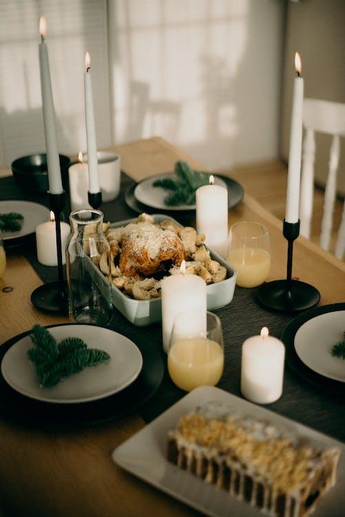 Christmas Dinner on Table