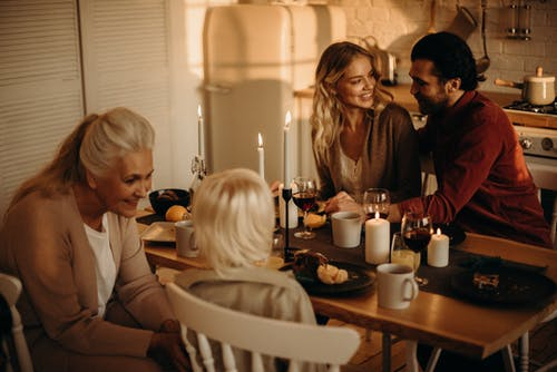 Kostenloses Stock Foto zu danksagung, familie, ferien, festessen zum erntedankfest