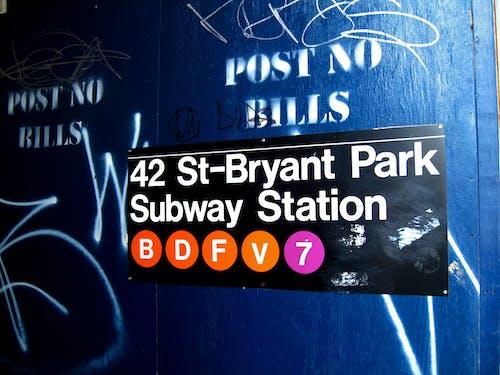 Kostnadsfri bild av New York, skylt, tunnelbana, urban