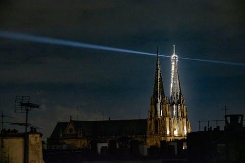 Ingyenes stockfotó antenna, csillogó, Eiffel-torony, éjszaka témában