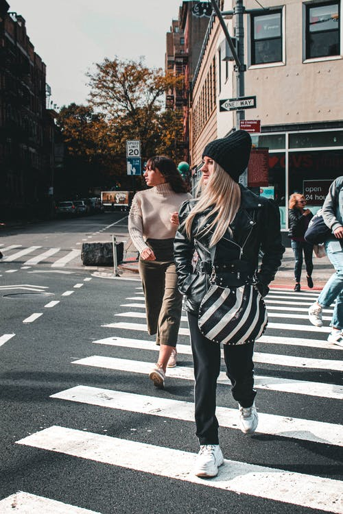People Walking on Pedestrian Lane
