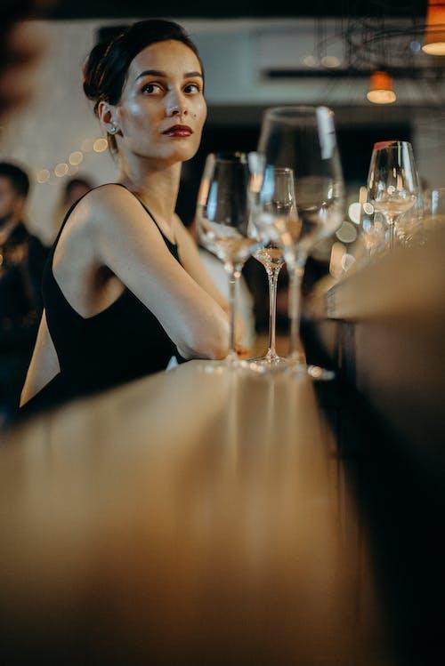 Woman Near Table
