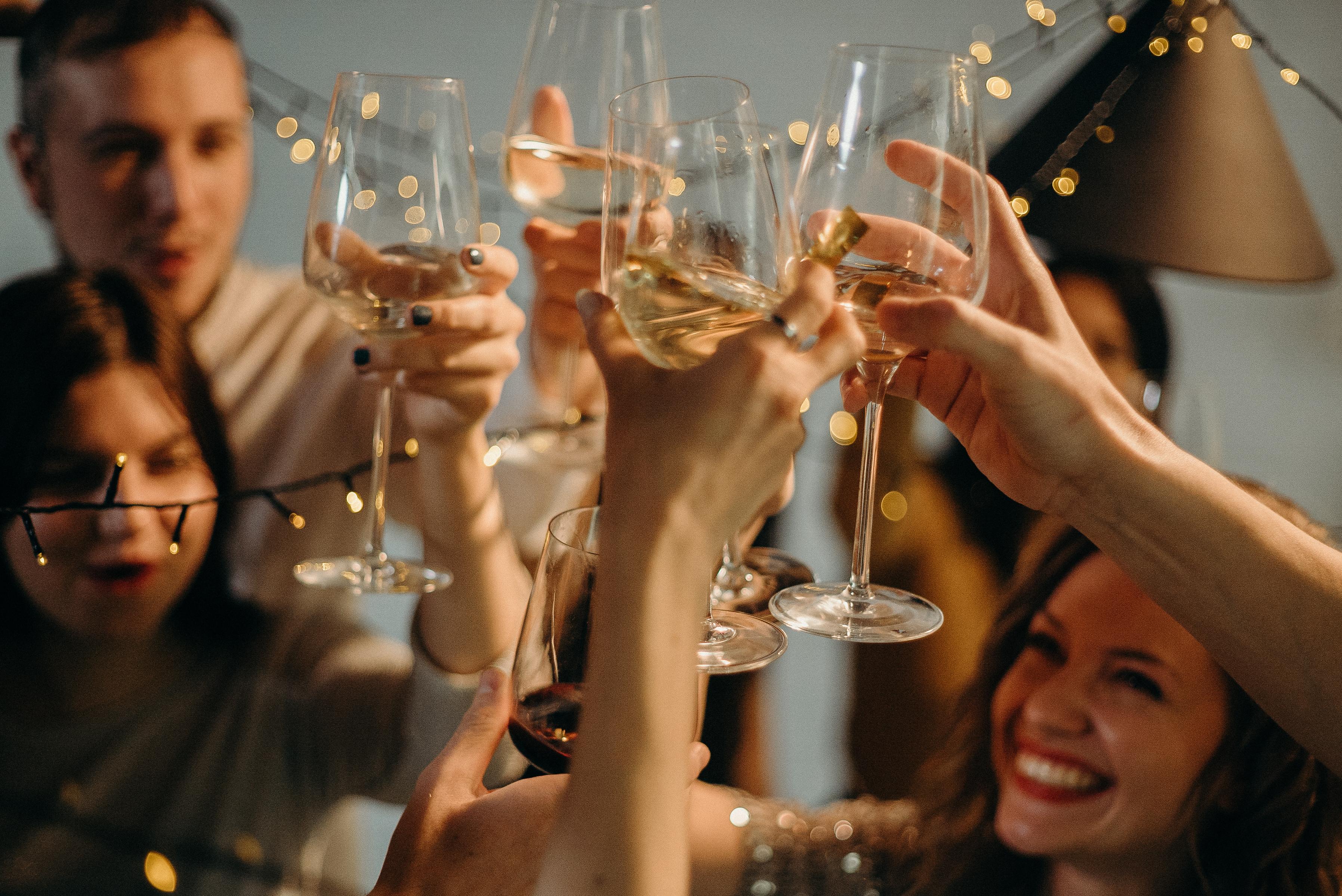 people celebrating wedding