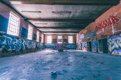 Δωρεάν στοκ φωτογραφιών με street art, αδειάζω, αρχιτεκτονική, γκράφιτι