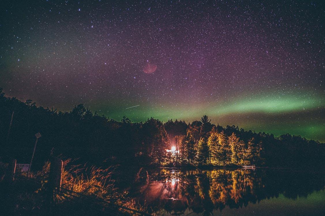 astronomie, aurora, aurora boreală