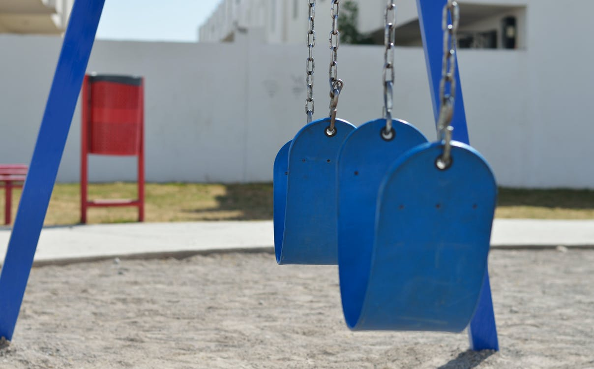 Blue Swing Playground