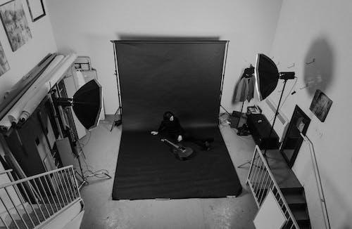 Ilmainen kuvapankkikuva tunnisteilla harmaasävyt, huone, Sisustussuunnittelu, Studio