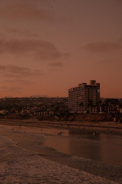 Foto d'estoc gratuïta de alba, capvespre, mar, platja