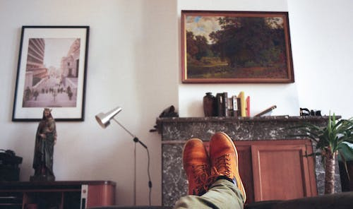 Free stock photo of analog photography, building interior, living room, painting