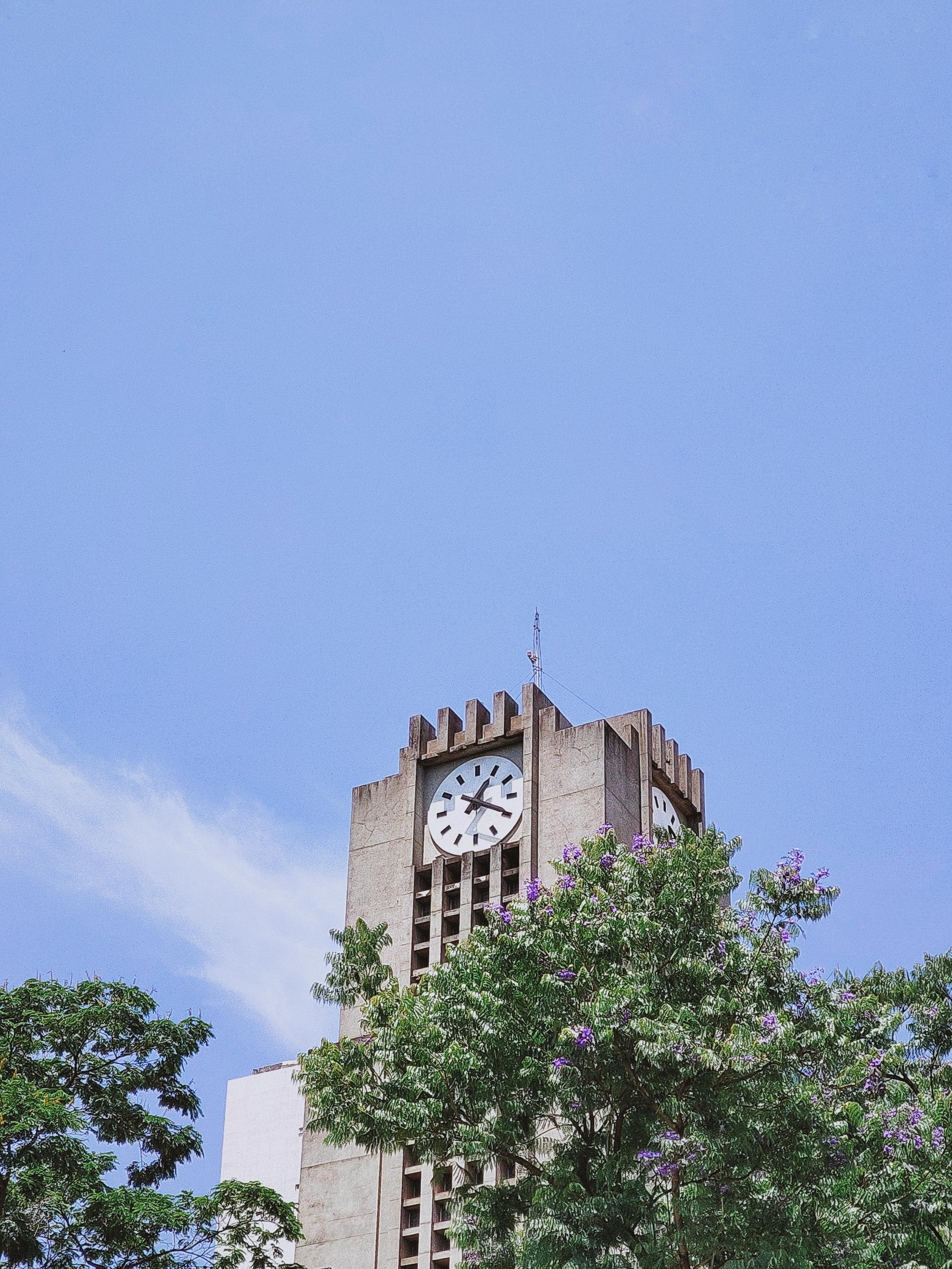 Concrete Clock Tower