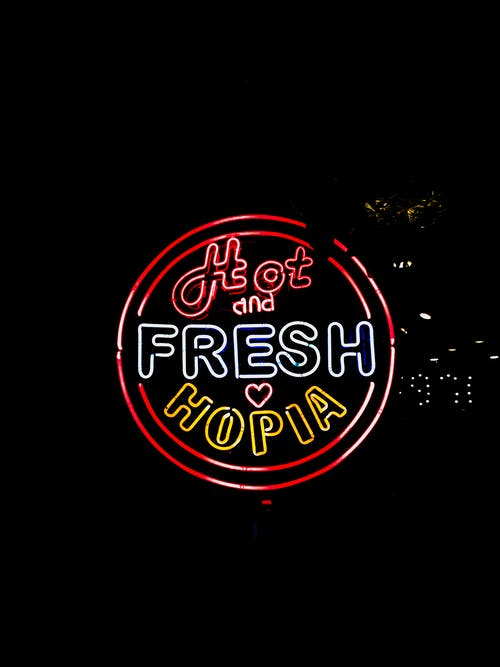 Hot and Fresh Hopia Neon Signage