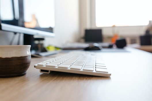 Free stock photo of wood, cup, desk, office